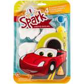 Cars Plaster Magnets with Paint